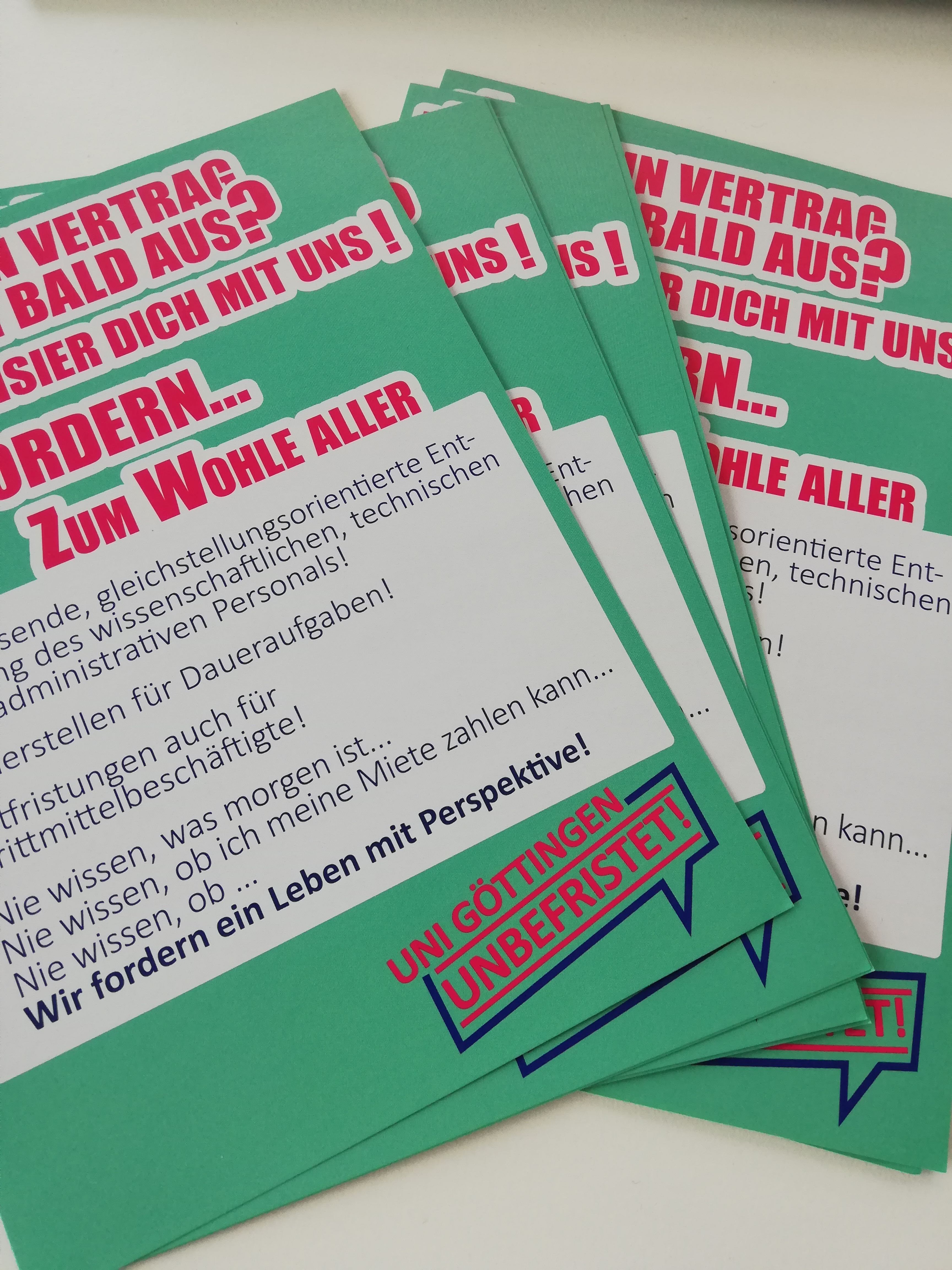 Flyer Uni Göttingen Unbefristet